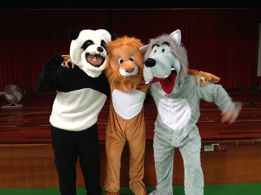 Leading the education program (I am the lion)